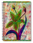 Lily Abstraction Spiral Notebook