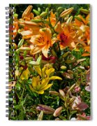 Lily Garden Bouquet  Spiral Notebook