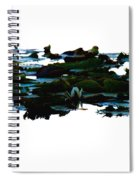 Lily Pads On White Water Spiral Notebook