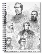 Lincoln Assassins Trial Spiral Notebook