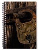 Lincoln Lock Spiral Notebook