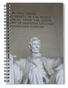 Lincoln Memorial - Enshrined Forever Spiral Notebook