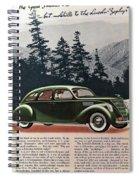 Lincoln Zephyr 1936 Spiral Notebook