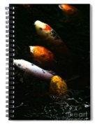 Line Dancing Koi Spiral Notebook
