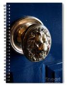 Lion Head Door Knob Spiral Notebook
