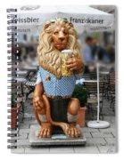 Lion Of Beer Spiral Notebook