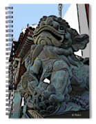 Lion Of Buddha Spiral Notebook
