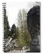 Lion Sculpture Spiral Notebook