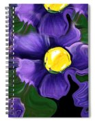 Liquid Violets Spiral Notebook