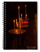 Lit Candles In A Church Spiral Notebook