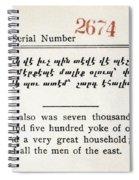 Literacy Test C1917 Spiral Notebook