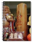 Little Buddhas In Silom In Bangkok In Thailand Spiral Notebook