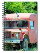 Little Red Firetruck Spiral Notebook