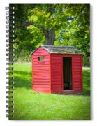 Little Red Three-seater Spiral Notebook