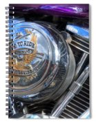 Live To Ride Spiral Notebook