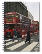 Liverpool Street Station Bus - London Spiral Notebook
