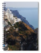 Living On The Edge In Santorini Spiral Notebook