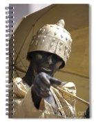 Living Statue Spiral Notebook