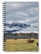 Livingstone Range And Pastureland Spiral Notebook
