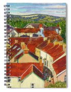 Painting Llandovery Roof Tops Spiral Notebook