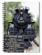 Locomotive 639 Type 2 8 2 Front View Spiral Notebook