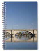London Bridge And Reflection Spiral Notebook