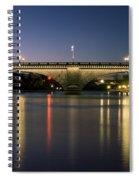 London Bridge At Dusk Spiral Notebook