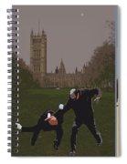 London Matrix Triptych Spiral Notebook