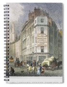 London: Street Scene, 1830 Spiral Notebook