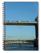 London Tower Bridge Looking Magnificent In The Setting Sun Spiral Notebook