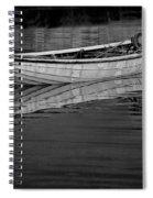 Lone White Boat In Nova Scotia Spiral Notebook