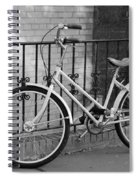Lonely Bike In Black And White Spiral Notebook