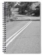 Long And Winding Road Bw Spiral Notebook