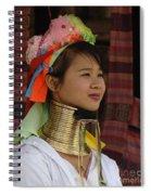 Long Necked Woman 3 Spiral Notebook