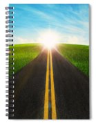 Long Road In Beautiful Nature  Spiral Notebook