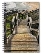 Long Stairway To Beach Spiral Notebook