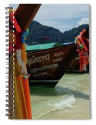 Long Tail Boats Spiral Notebook