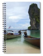 Long Tail Boats Thailand Spiral Notebook