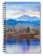 Longs Peak And Mt Meeker Sunrise At Golden Ponds Spiral Notebook