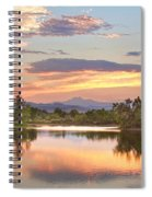 Longs Peak Evening Sunset View Spiral Notebook