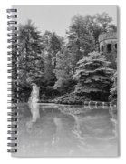 Longwood Gardens Castle In Black And White Spiral Notebook