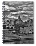 Looking Downtown From The Erie Basin Marina Spiral Notebook