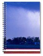 Looking East Lightning Strike Spiral Notebook