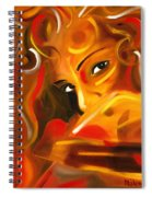 Looking Over Her Shoulder Spiral Notebook