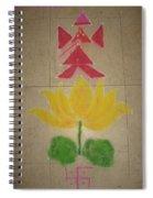 Lord Ganesh Rangoli Spiral Notebook