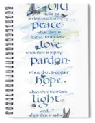 Lord Peace Spiral Notebook