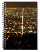 Los Angeles At Night 2 Spiral Notebook