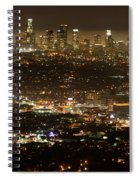 Los Angeles  City View At Night  Spiral Notebook