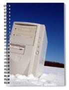 Lost Computer In Snow Spiral Notebook