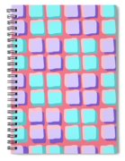 Lots Of Squares Spiral Notebook